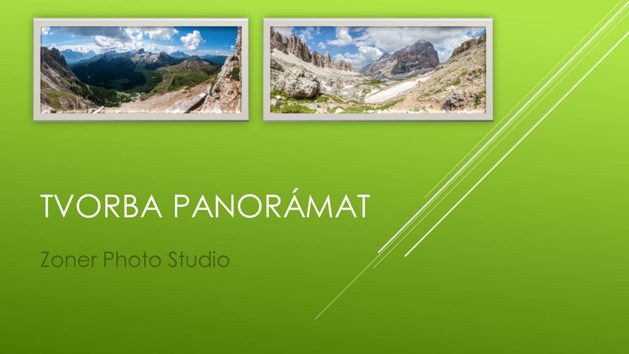 Při vytváření panorámat je nutné mít dílčí snímky v odpovídající kvalitě a se správným nastavením – ty máme, takže se tím nyní zabývat nebudeme.