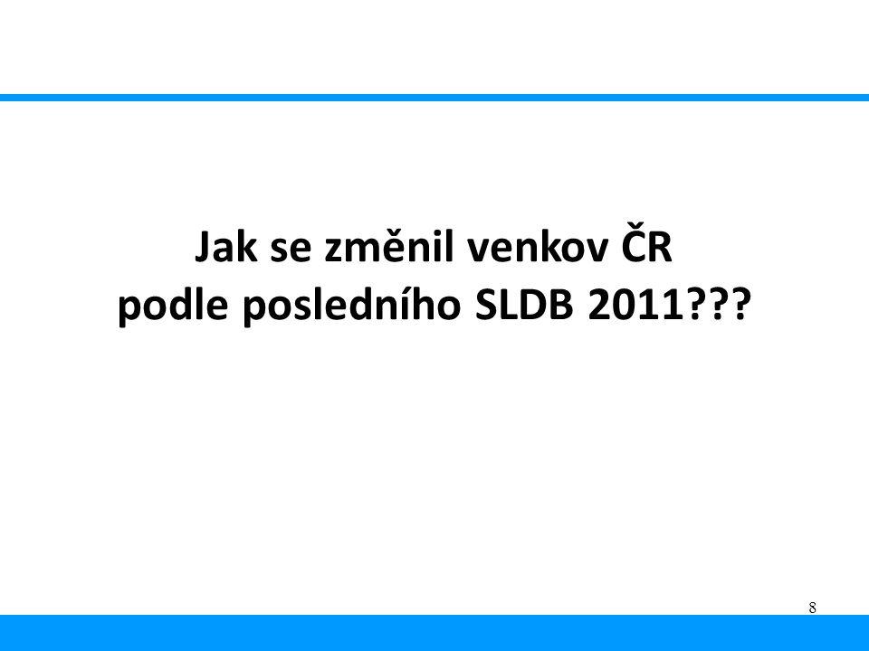 8 Jak se změnil venkov ČR podle posledního SLDB 2011???