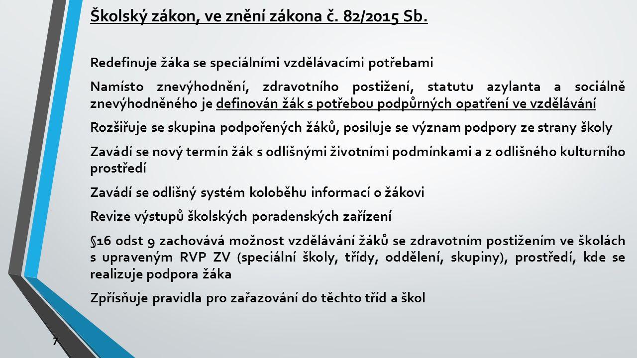 7 Školský zákon, ve znění zákona č.82/2015 Sb.