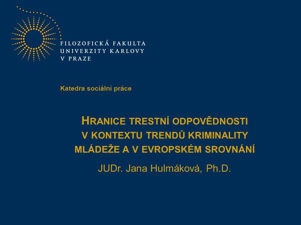 2 Pramen: Statistické údaje Policejního prezídia ČR