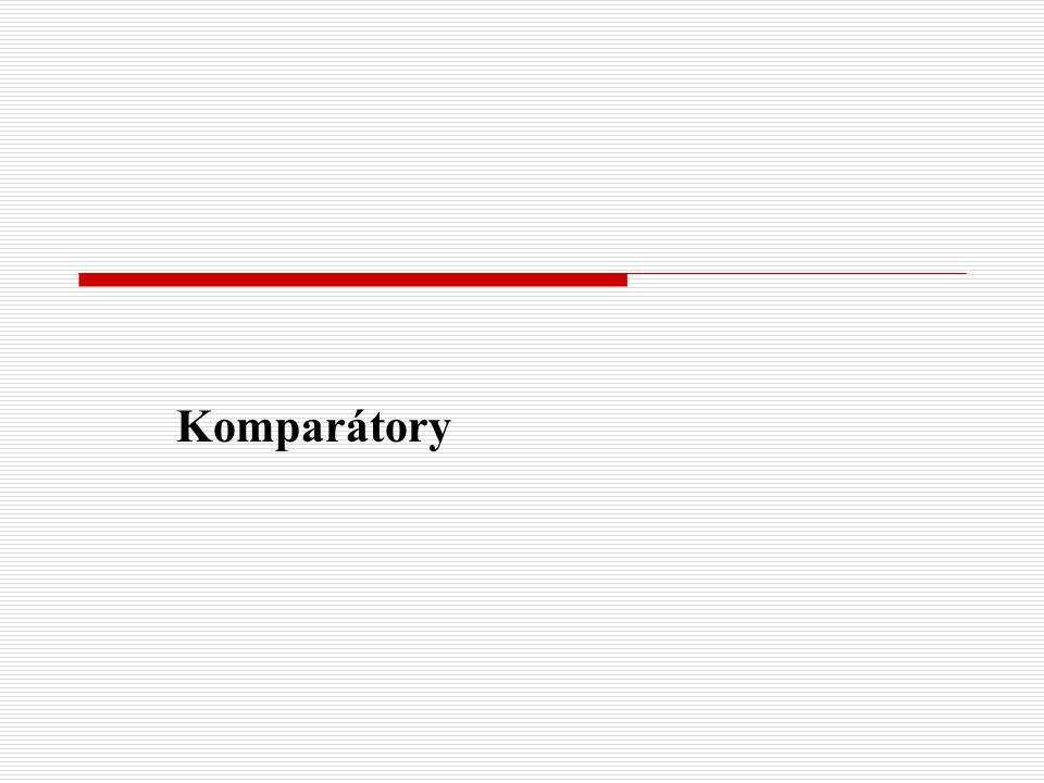 Komparátory