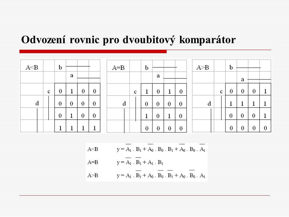Odvození rovnic pro dvoubitový komparátor