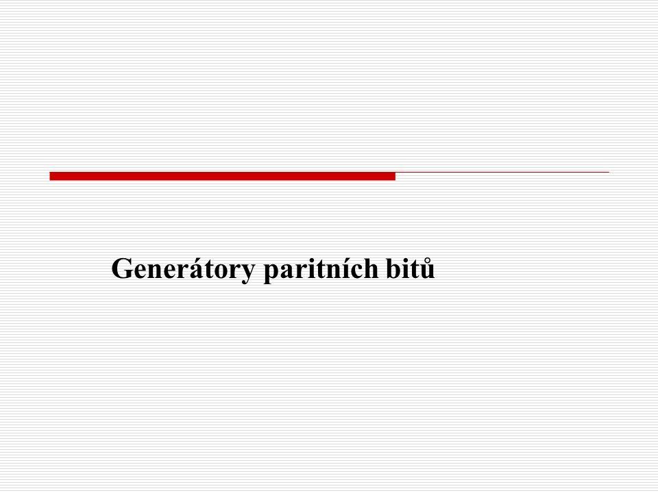Generátory paritních bitů