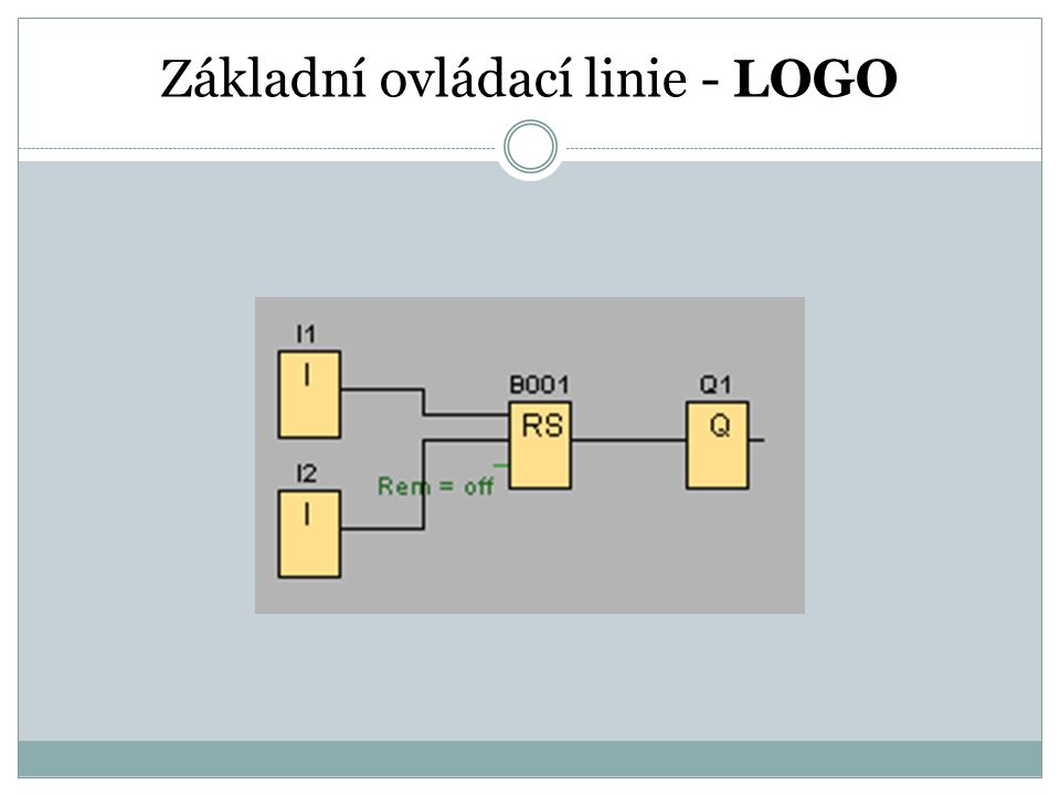 Základní ovládací linie - LOGO