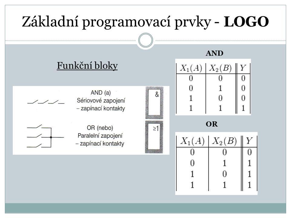 Základní programovací prvky - LOGO AND OR Funkční bloky
