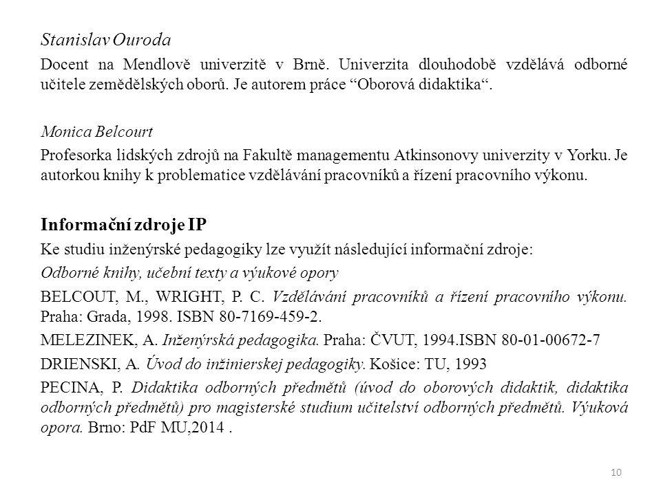 Stanislav Ouroda Docent na Mendlově univerzitě v Brně.