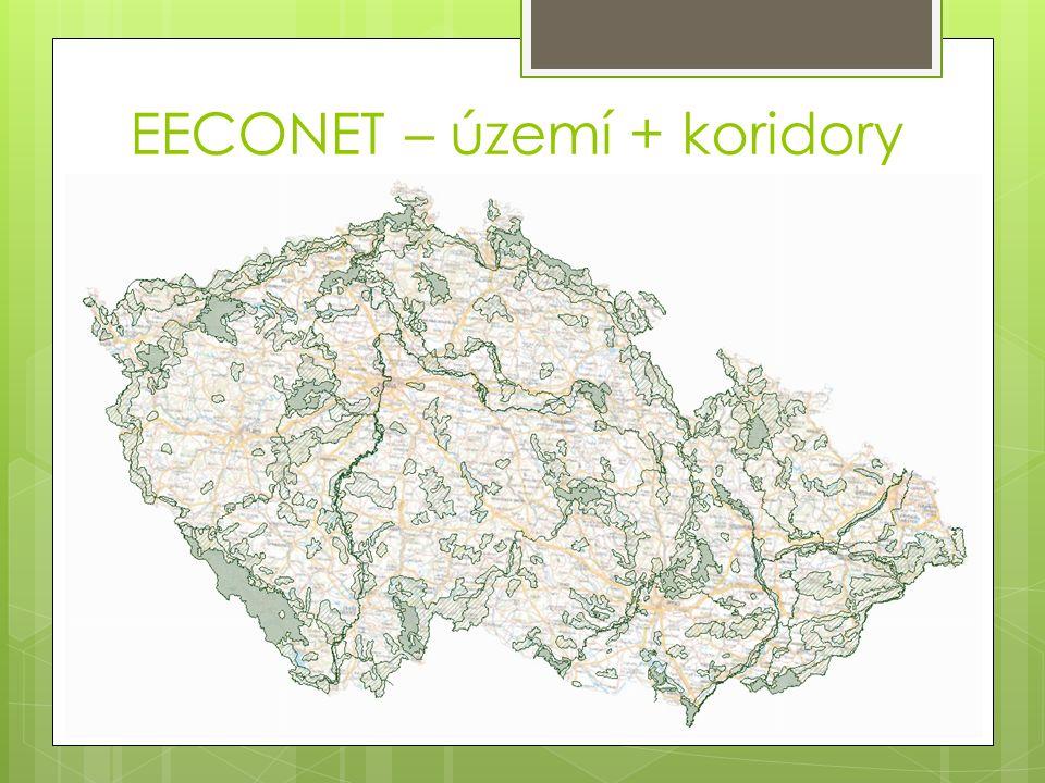EECONET – území + koridory