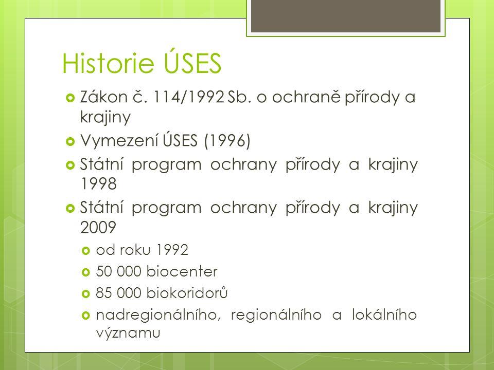 Legislativní rámec  zákon č.114/1992 Sb.  o ochraně přírody a krajiny  vyhláška 395/1992 Sb.