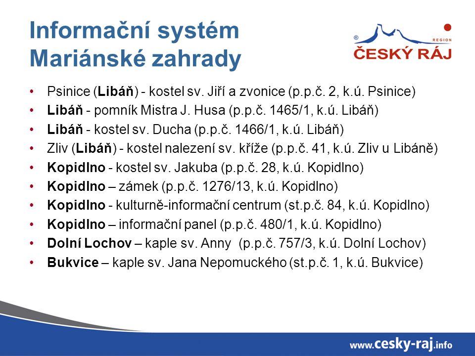 Informační systém Mariánské zahrady Psinice (Libáň) - kostel sv.