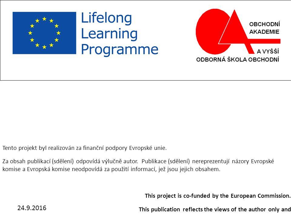 24.9.2016 Main region of south Moravia Michal Šoukal, Michal Matocha, Lenka Pokorná Tento projekt byl realizován za finanční podpory Evropské unie.