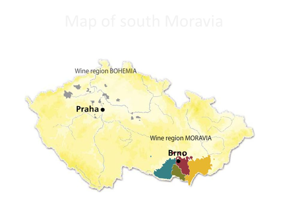 Map of south Moravia