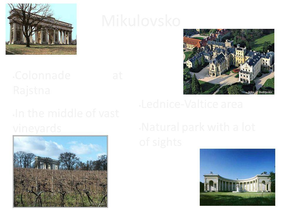Mikulovsko Colonnade at Rajstna In the middle of vast vineyards Lednice-Valtice area Natural park with a lot of sights