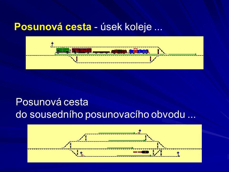 Omezení traťové rychlosti, platná pro vlaky, se vztahují i na posun.