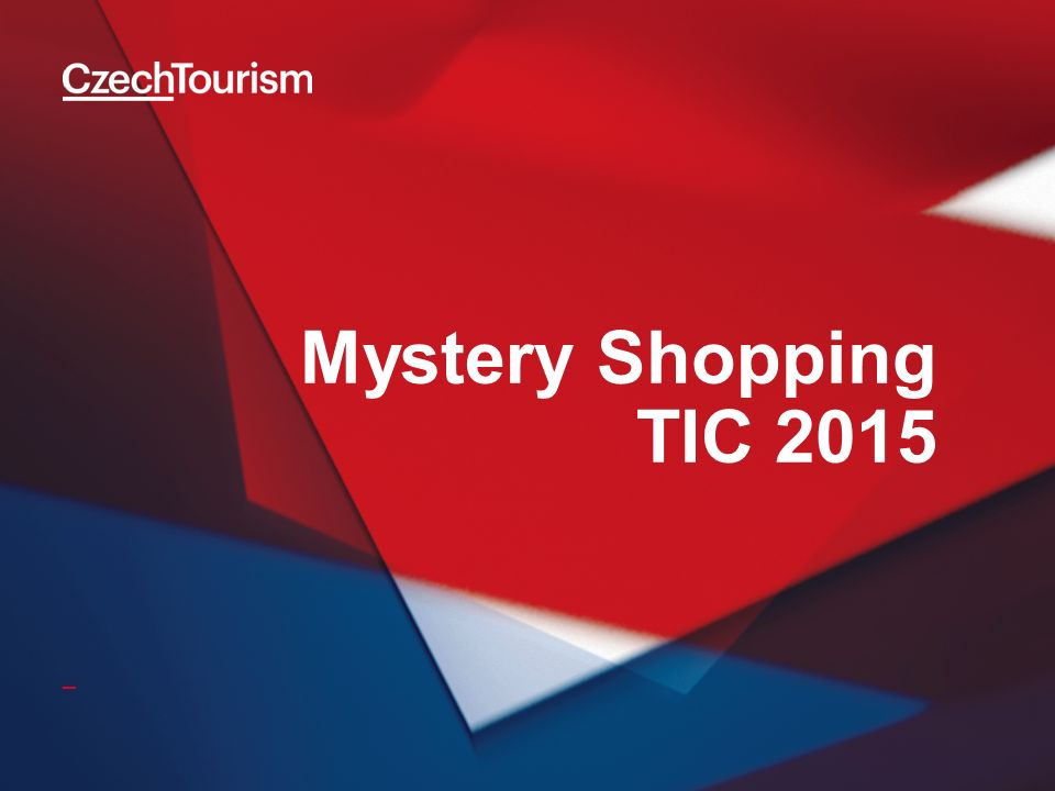 Cíle výzkumu 2 Agentura CzechTourism realizuje ve spolupráci s Asociací turistických informačních center ČR výzkum zaměřený na monitoring služeb turistických informačních center metodou Mystery Shopping kontinuálně od roku 2012.