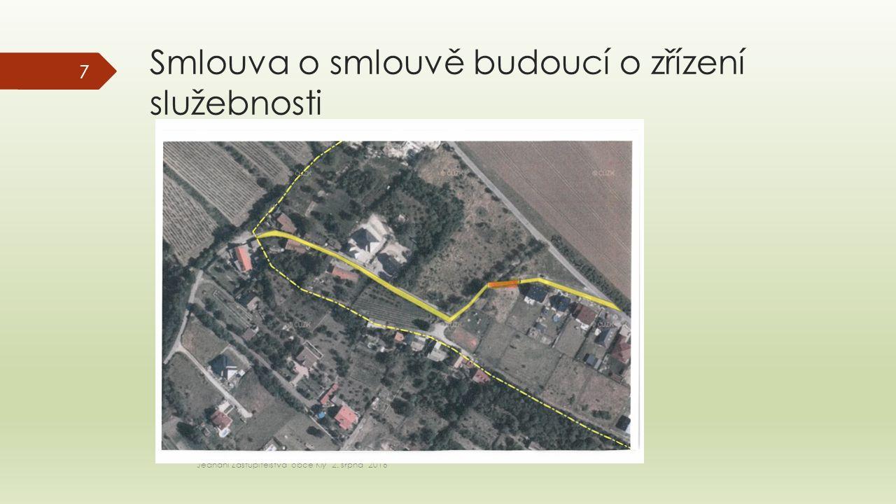 Záměr pachtu částí pozemků p.č.907/1 Jednání zastupitelstva obce Kly 2.