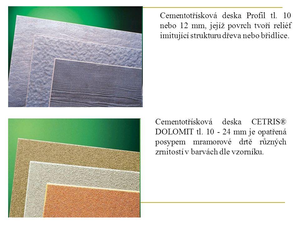 Cementotřísková deska Profil tl.