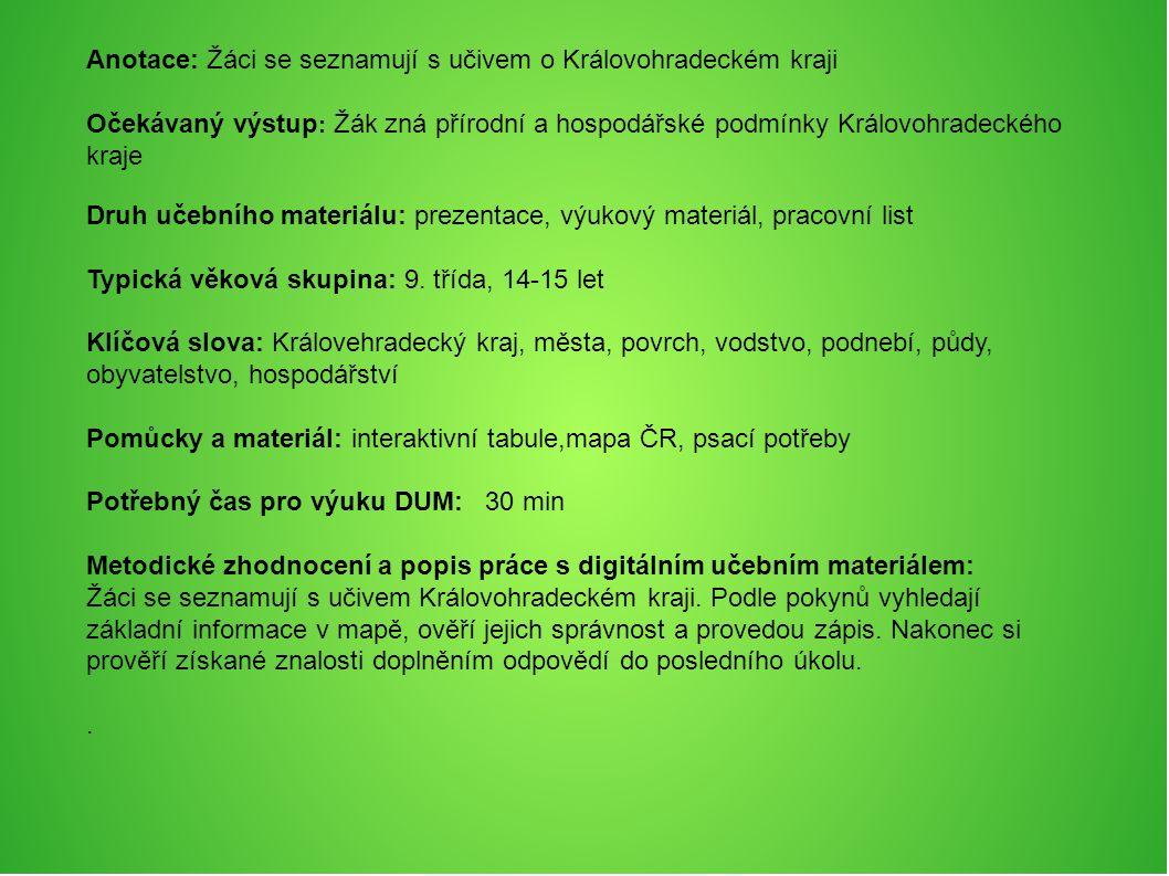 Královehradecký Kraj Krajské město: Hradec Králové