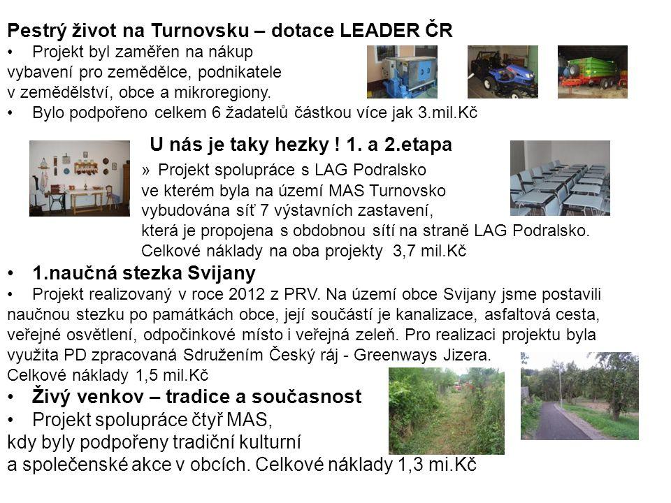 Pestrý život na Turnovsku – dotace LEADER ČR Projekt byl zaměřen na nákup vybavení pro zemědělce, podnikatele v zemědělství, obce a mikroregiony. Bylo
