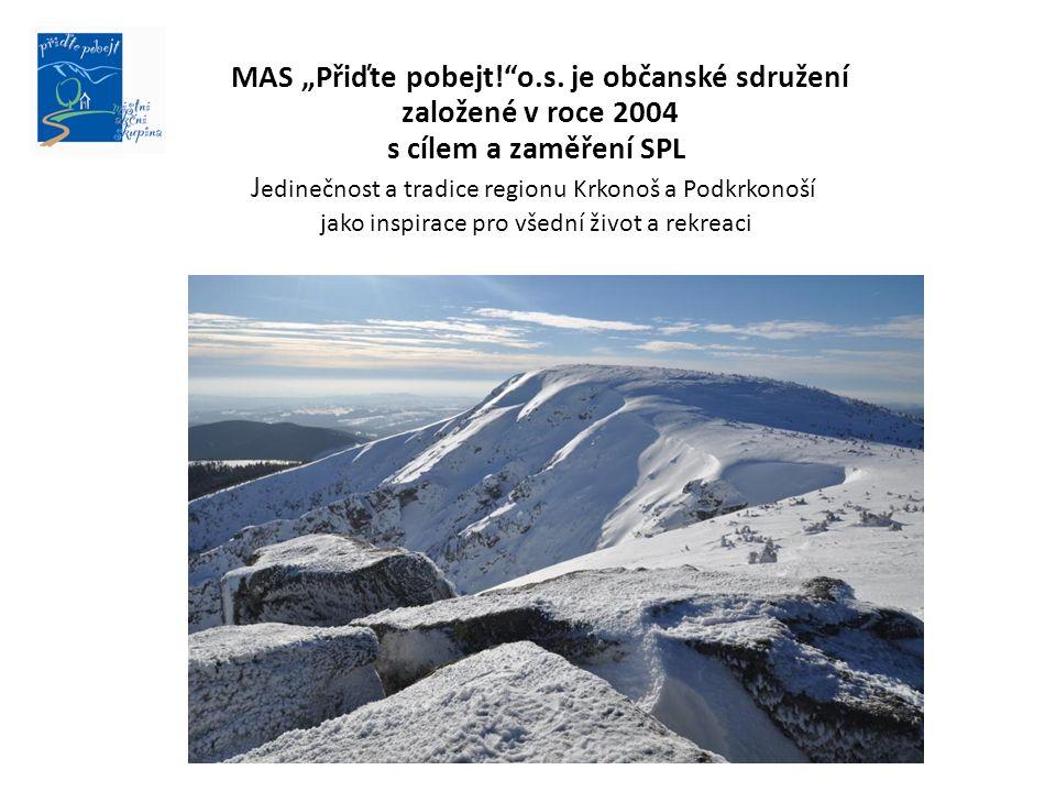 """MAS """"Přiďte pobejt!""""o.s. je občanské sdružení založené v roce 2004 s cílem a zaměření SPL J edinečnost a tradice regionu Krkonoš a Podkrkonoší jako in"""