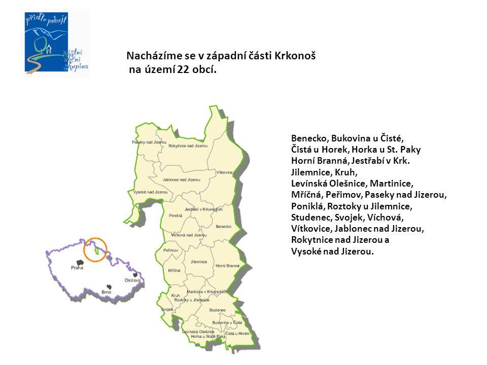 Benecko, Bukovina u Čisté, Čistá u Horek, Horka u St.
