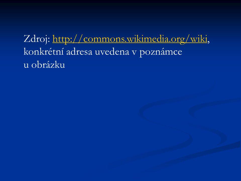 Zdroj: http://commons.wikimedia.org/wiki, konkrétní adresa uvedena v poznámce u obrázkuhttp://commons.wikimedia.org/wiki