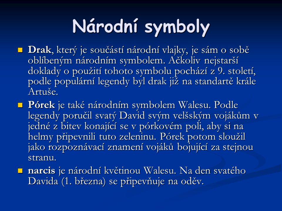 Národní symboly Drak, který je součástí národní vlajky, je sám o sobě oblíbeným národním symbolem.