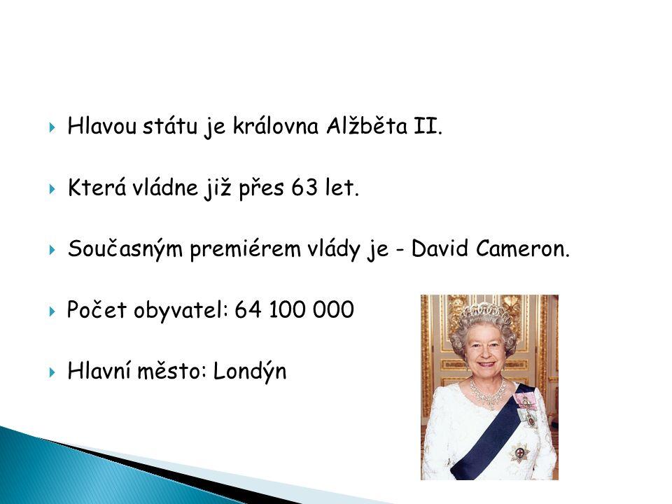  Hlavou státu je královna Alžběta II.  Která vládne již přes 63 let.