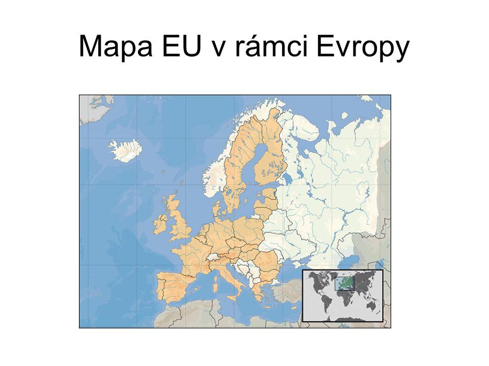 Mapa EU v rámci Evropy