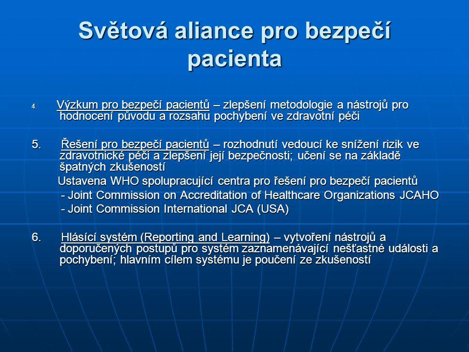 Aktivity Aliance Ustavení nových oblastí pro roky 2006 – 2007, zaměřené především na nové technologie pro zlepšení bezpečnosti pacienta a vzdělávání v oblasti bezpečí pacienta Ustavení nových oblastí pro roky 2006 – 2007, zaměřené především na nové technologie pro zlepšení bezpečnosti pacienta a vzdělávání v oblasti bezpečí pacienta Finanční podpora ze strany Velké Británie, která zajišťuje dostatečné prostředky na práci Aliance a jejího sekretariátu (ve výši 44 mil.