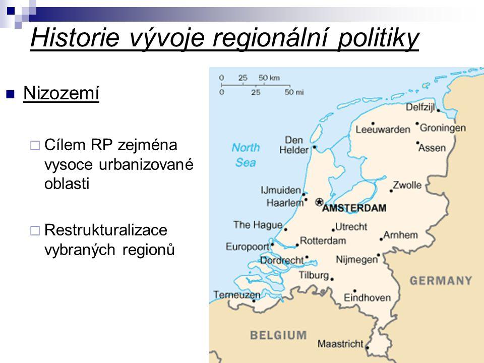 Historie vývoje regionální politiky Skandinávie  Problematika řídce osídlených oblastí Postkomunistické země  Začátek RP koncem 80.