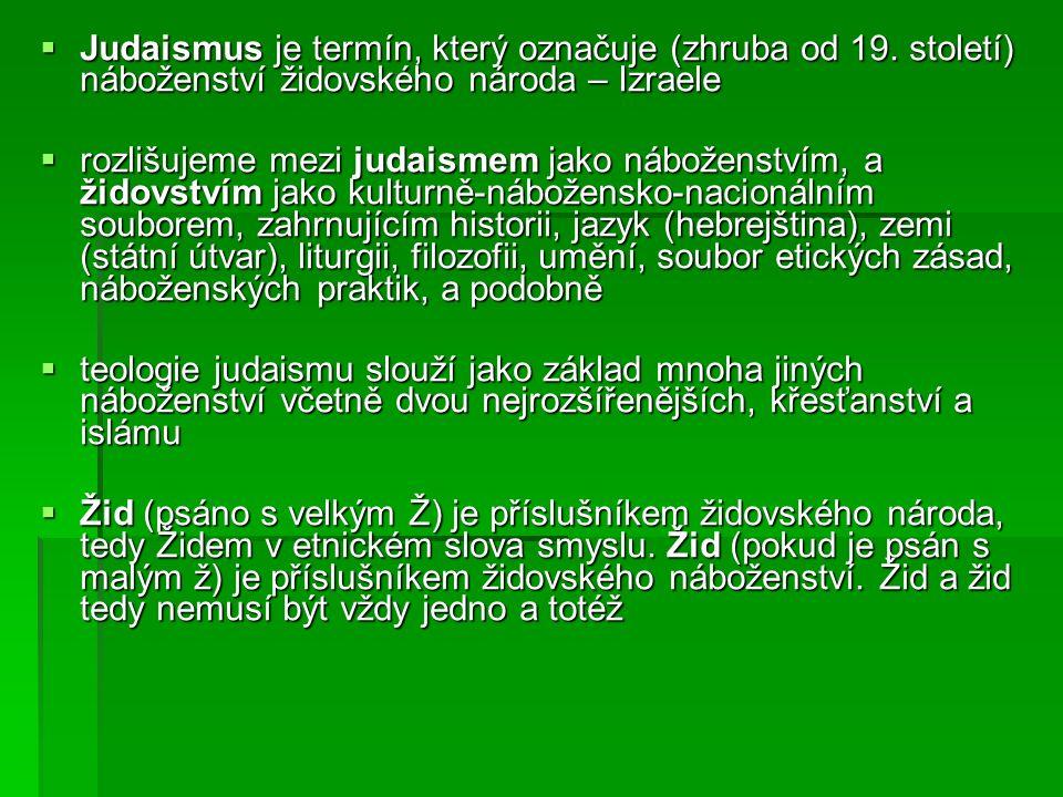  oba významy se do jisté míry překrývají, protože židovské náboženství bylo původně náboženstvím národním a bylo jedním z určujících rysů příslušnosti k židovskému národu.