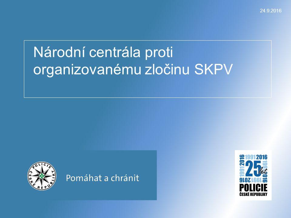 Národní centrála proti organizovanému zločinu SKPV 24.9.2016