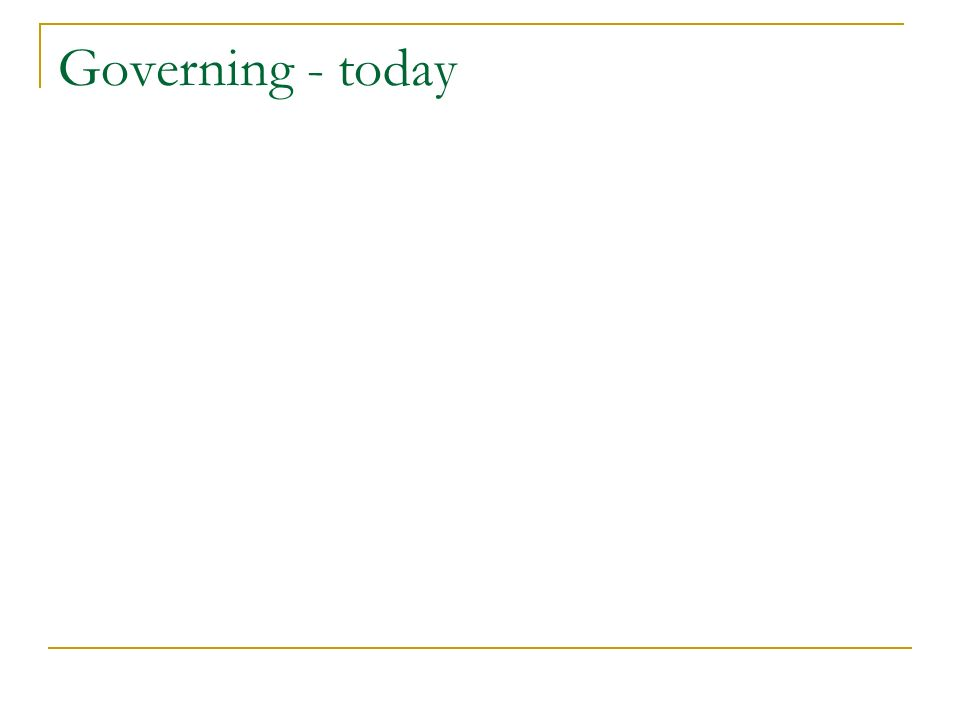 Governing - today