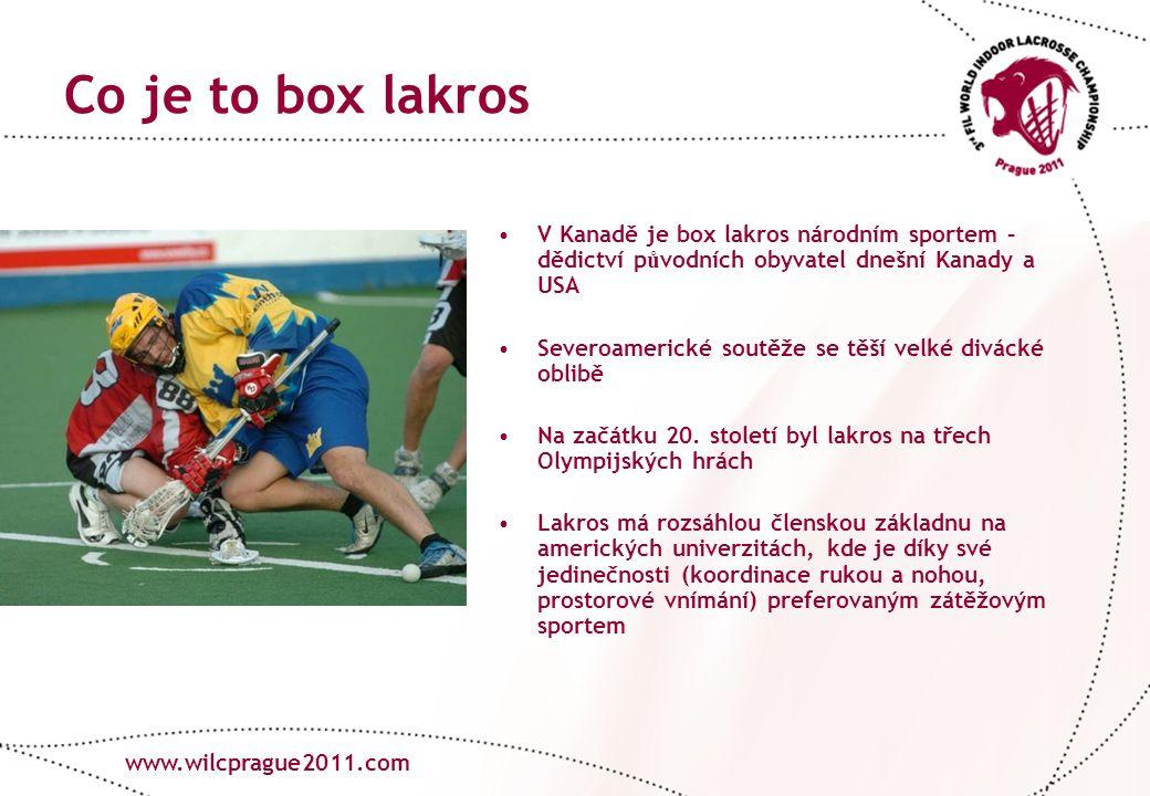 www.lacrosse.cz Co je to box lakros V Kanadě je box lakros národním sportem – dědictví p ů vodních obyvatel dnešní Kanady a USA Severoamerické soutěže se těší velké divácké oblibě Na začátku 20.