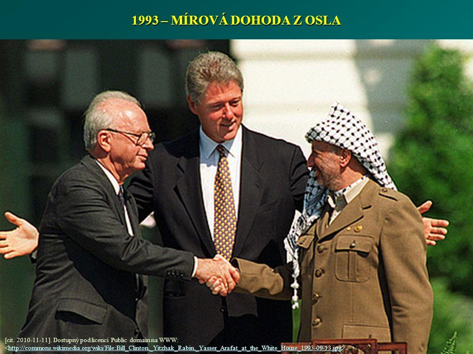1993 – MÍROVÁ DOHODA Z OSLA [cit. 2010-11-11].