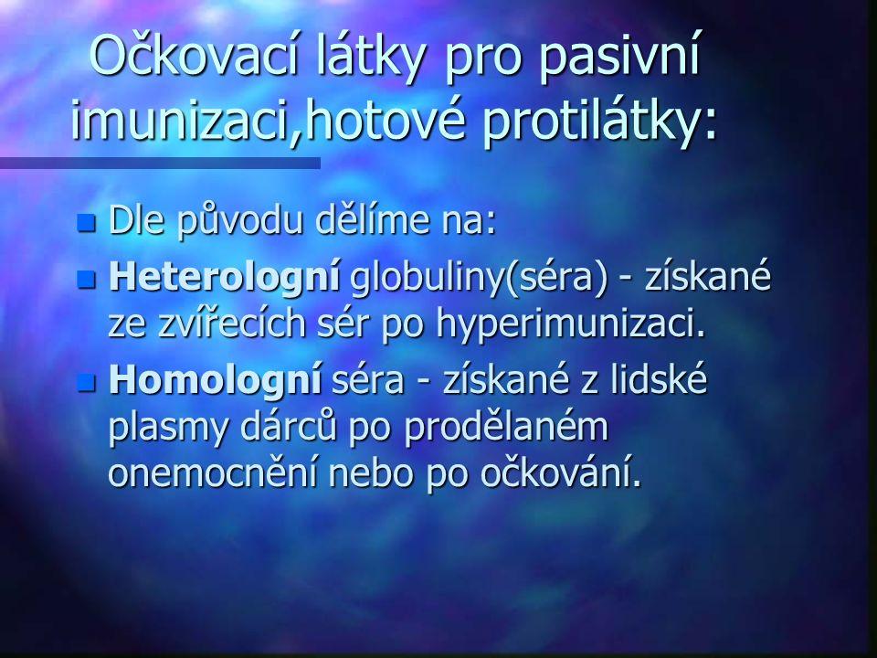 Homologní globuliny.