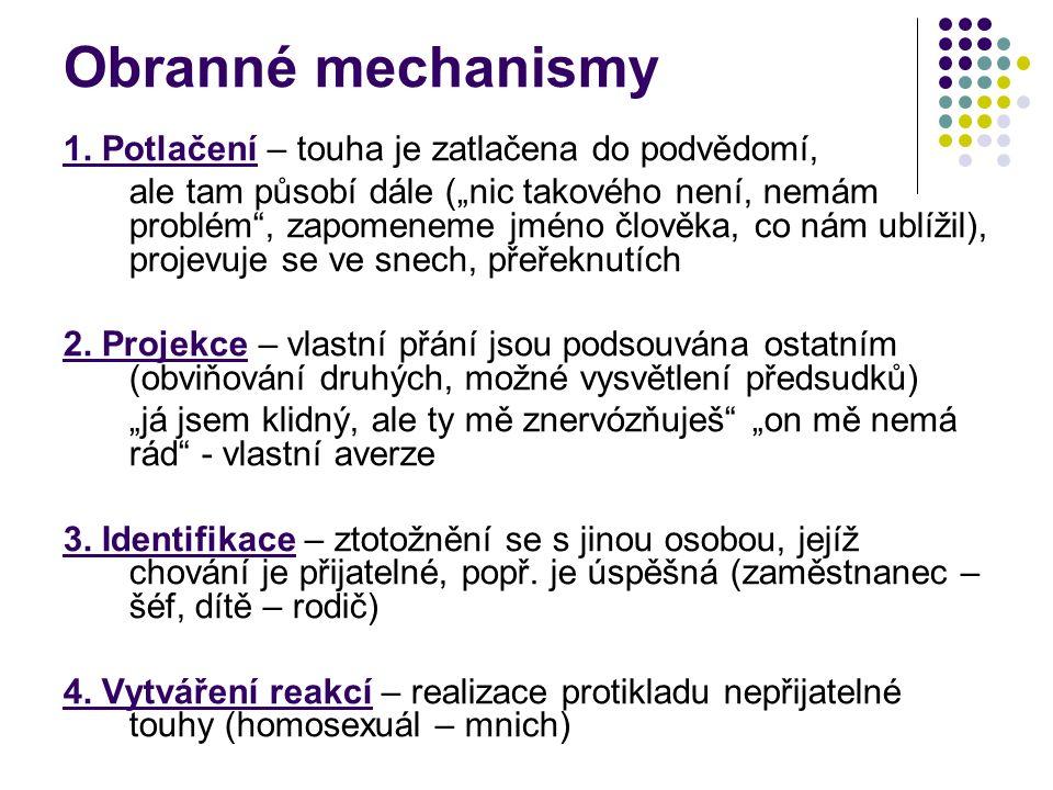 Obranné mechanismy 1.