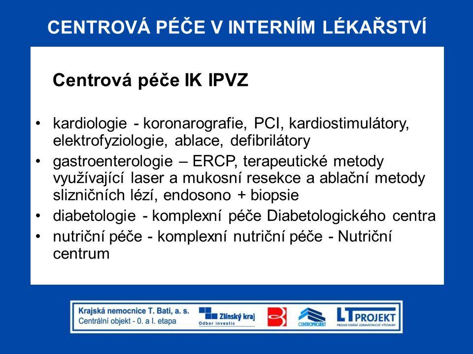 PŘÍJMOVÉ INTERNÍ PRACOVIŠTĚ Příjmová pracoviště IK IPVZ řešení příjmových ambulancí resp.
