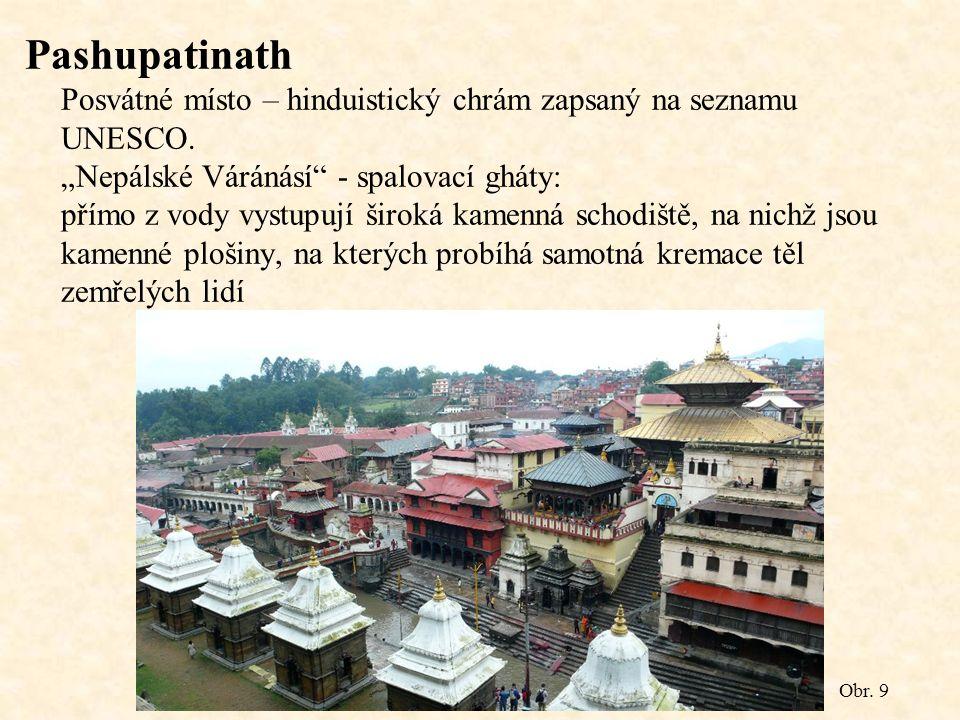 Pashupatinath Posvátné místo – hinduistický chrám zapsaný na seznamu UNESCO.