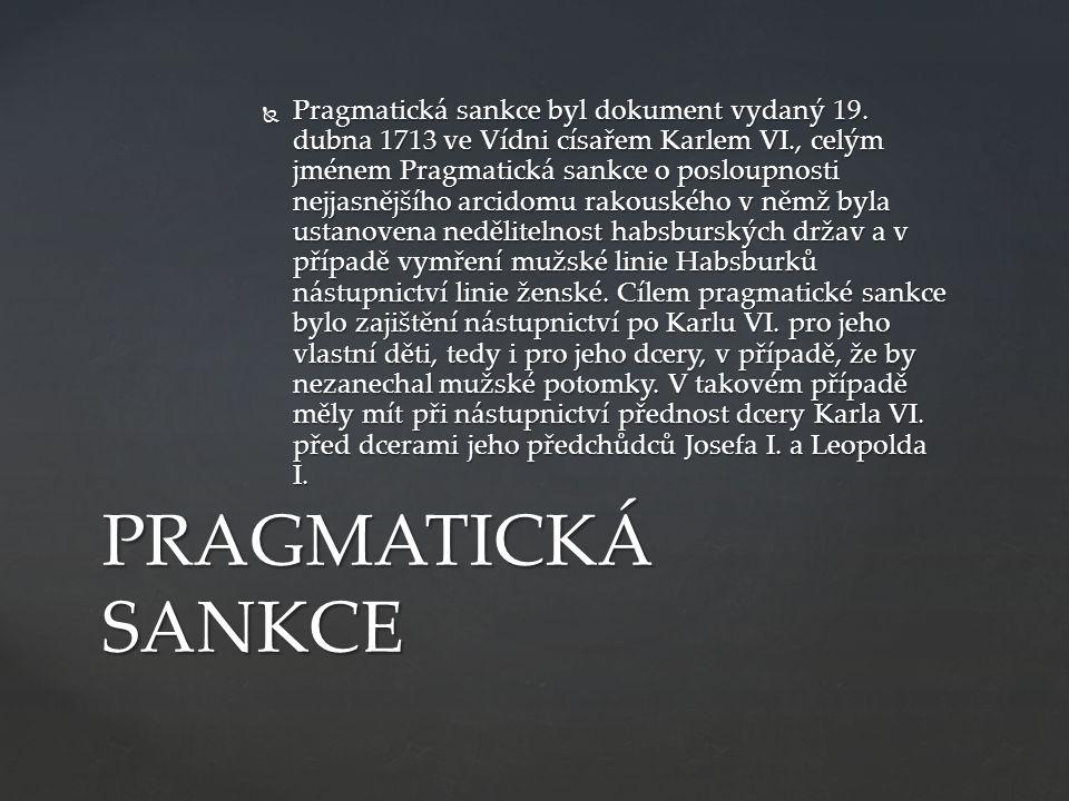  Pragmatická sankce byl dokument vydaný 19.