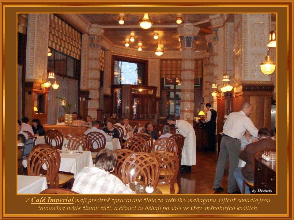 Mnoho známých pražských kaváren po druhé světové válce zmizelo, zatímco jiné přežily a byly obnoveny ke své dřívější slávě tak jako Café Imperial.