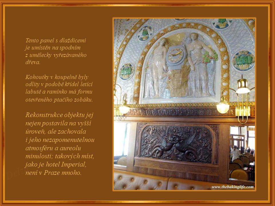 """Pražská kavárna Café Imperial je známa jako """"perla secese"""" a je stále nejlepším příkladem tohoto slohu. Její mozaika ze zdobených dlaždic je jednou z"""