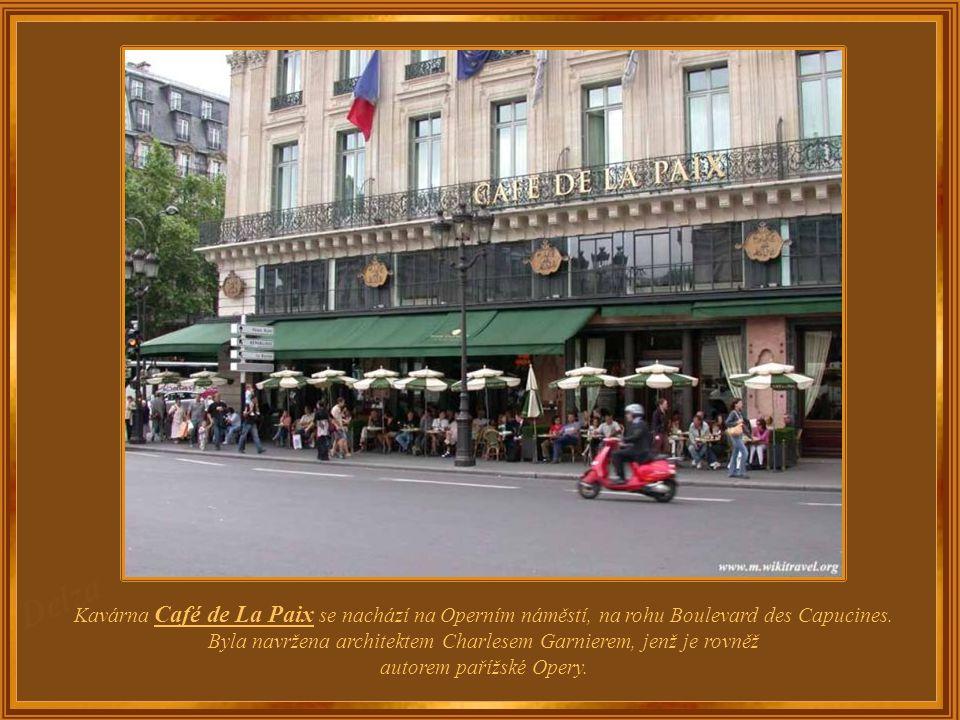 Francie - Paříž Café de La Paix