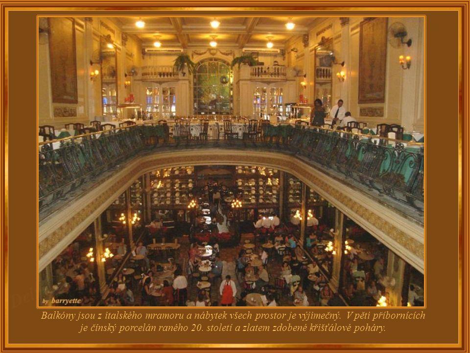 Kavárna Confeitaria Colombo, založená v roce 1894, si dodnes zachovala originální vzhled secese roku 1913. Má čtyři patra se třemi prostornými salonky