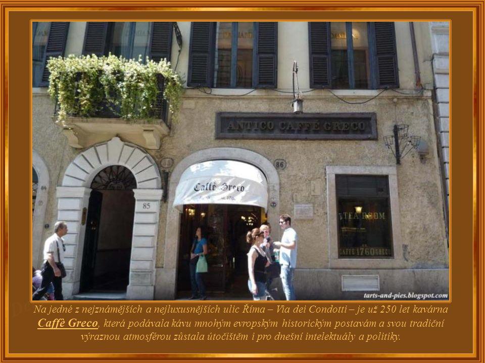 Itálie – Řím Caff è Greco