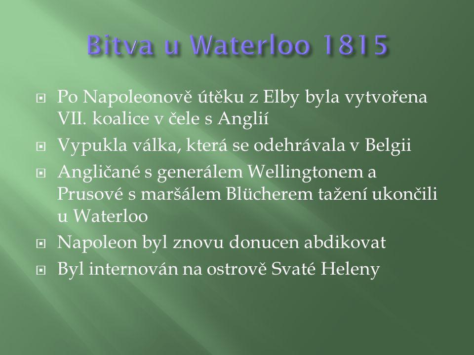  Po Napoleonově útěku z Elby byla vytvořena VII.