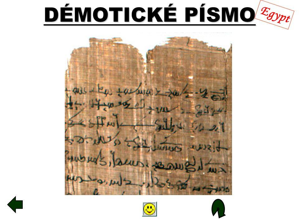 DÉMOTICKÉ PÍSMO Egypt