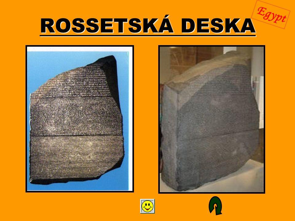 ROSSETSKÁ DESKA Egypt