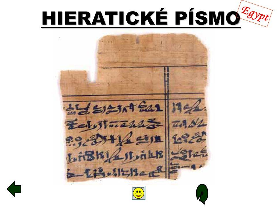 HIERATICKÉ PÍSMO Egypt