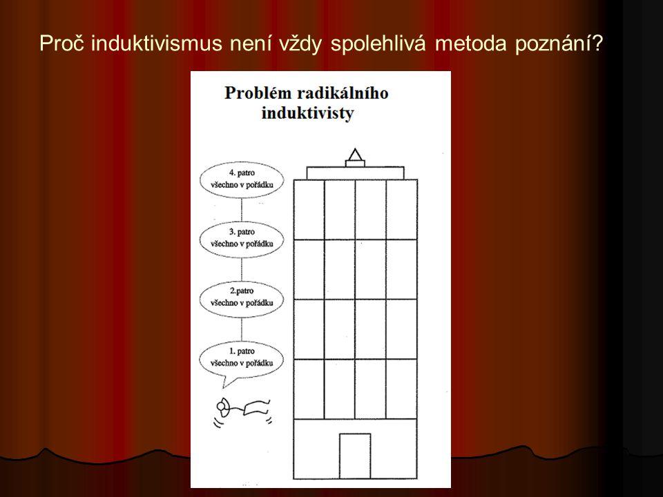 Proč induktivismus není vždy spolehlivá metoda poznání?